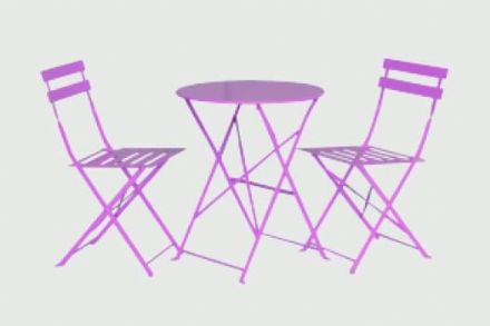 SupaGarden Folding Bistro Set - Pink